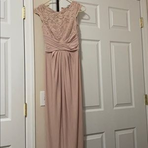 ASOS Nude pink maxi bridesmaid/wedding guest dress
